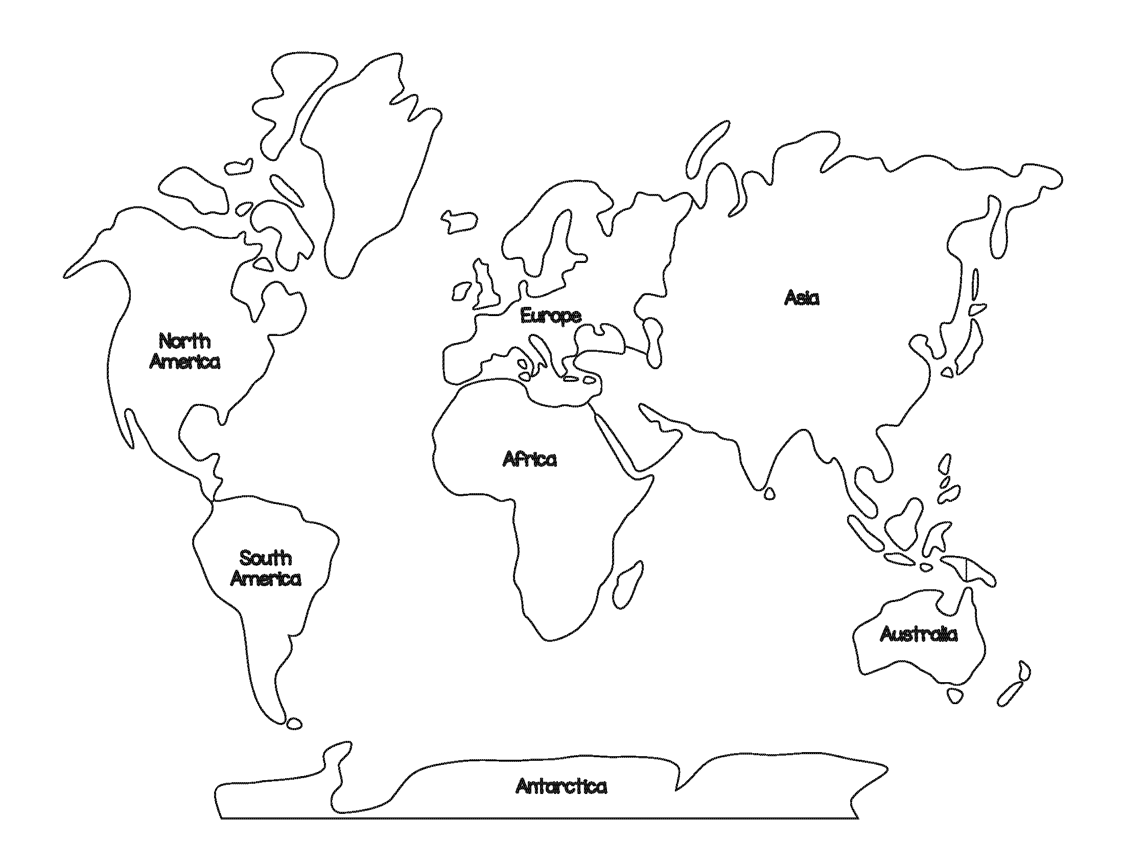 Map Of The 7 Continents Coloring Coloring Pages