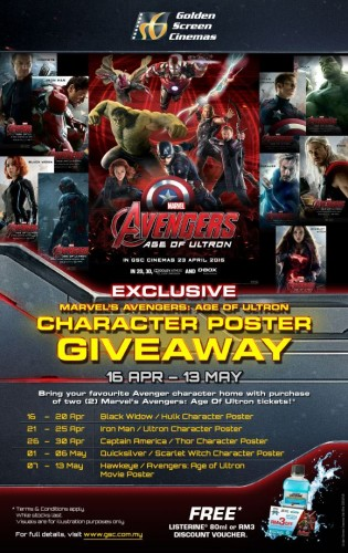 Marvel's Avengers Age of Ultron Character Poster
