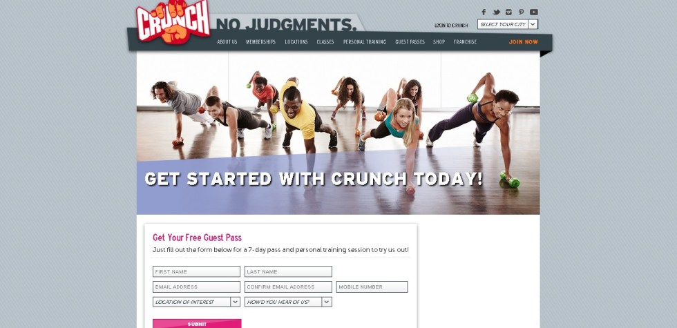 Free 7-day Pass & Personal Training Session at Crunch USA1