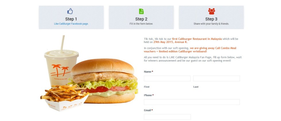 Free Cali Combo Meal Vouchers + Limited Edition CaliBurger Wristband