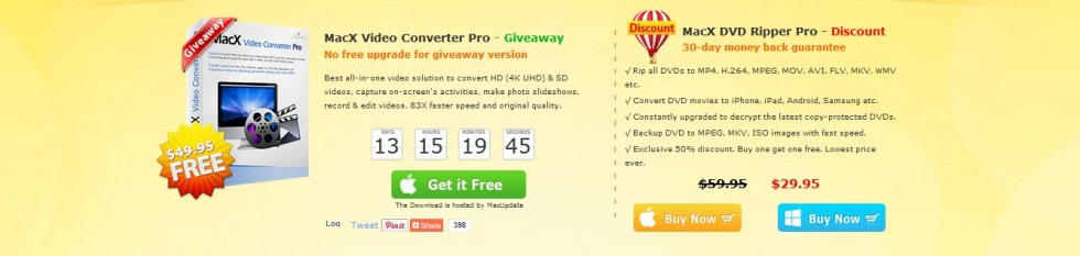 Free MacX Video Converter Pro at Macxdvd1