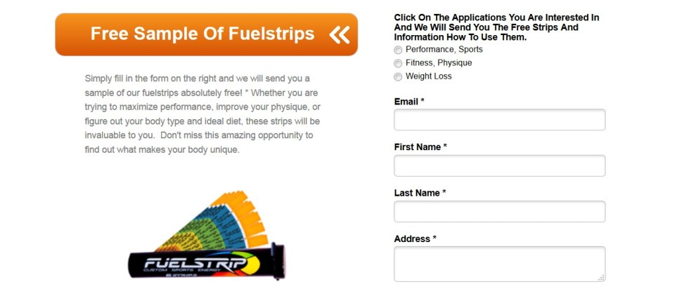 Free Sample of Fuelstrips at Fuel Slim USA1