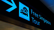 Free Singapore Tour For Tourists Signage