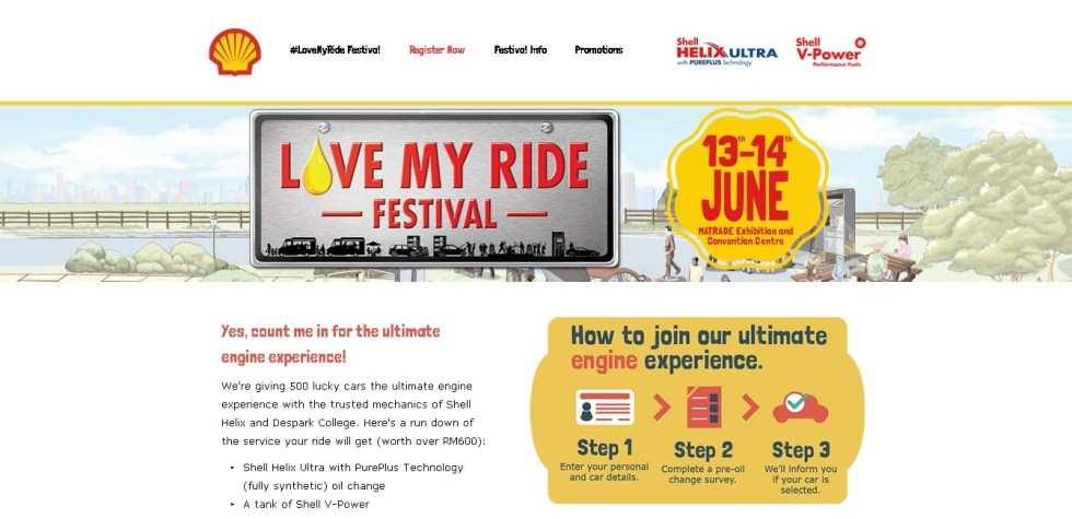 Shell Malaysia #LoveMyRide Festival Free Admission, Free Oil Change and a Tank of V-Power!1