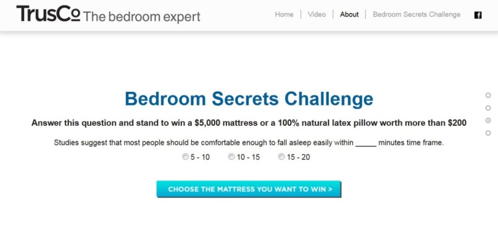 Win a $5,000 Mattress or Latex Pillow at Trusco The Bedroom Expert