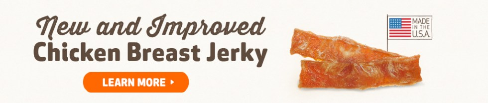 Free Chicken Breast Jerky at DOGSWELL USA1