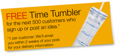 Free Time Tumbler at Quill USA