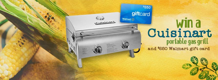 Win Cuisinart Professional Portable Gas Grill + a $550 gift card to Walmart