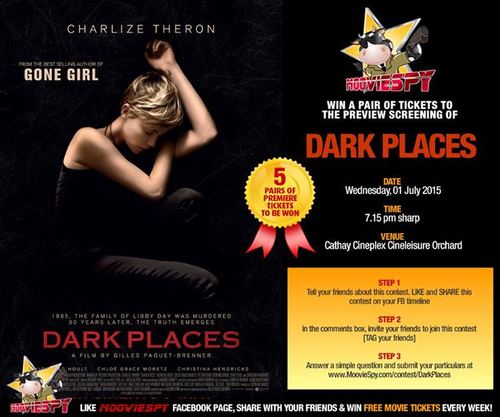 Win a pair of tickets to the preview screening of DARK PLACES by MoovieSpy Singapore