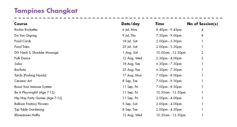 Celebrate SG50 & PA Community Day with Free Courses at Tampines Changkat CC Singapore