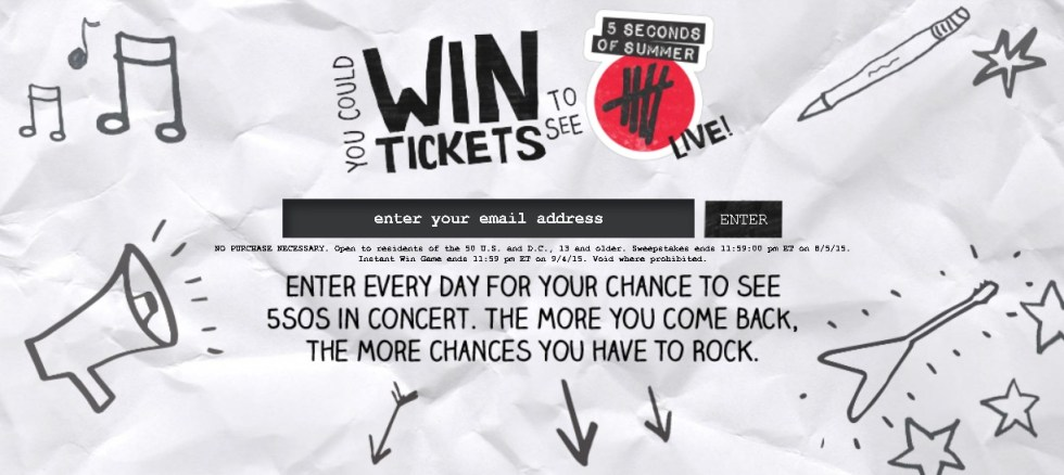 Enter Every Day For Your Chance To See 5SOS In Concert (2)