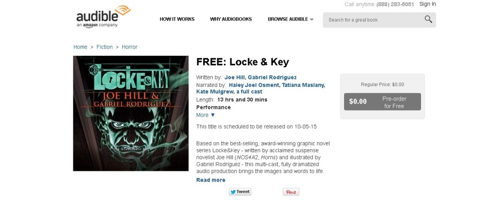 FREE Locke & Key Audio Book from Audible Form
