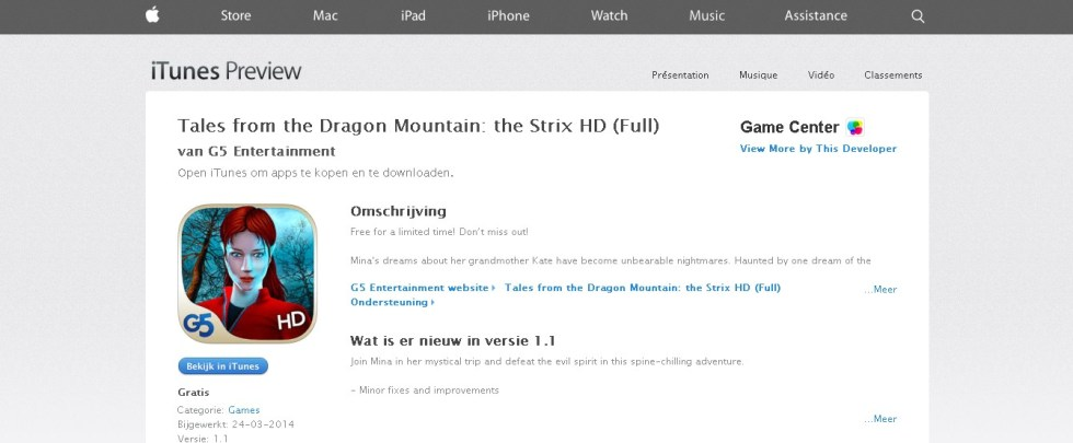 FREE Tales from the Dragon Mountain the Strix HD (Full) at iTunes