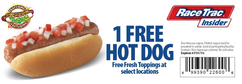 Free Hot Dog at RaceTrac USA