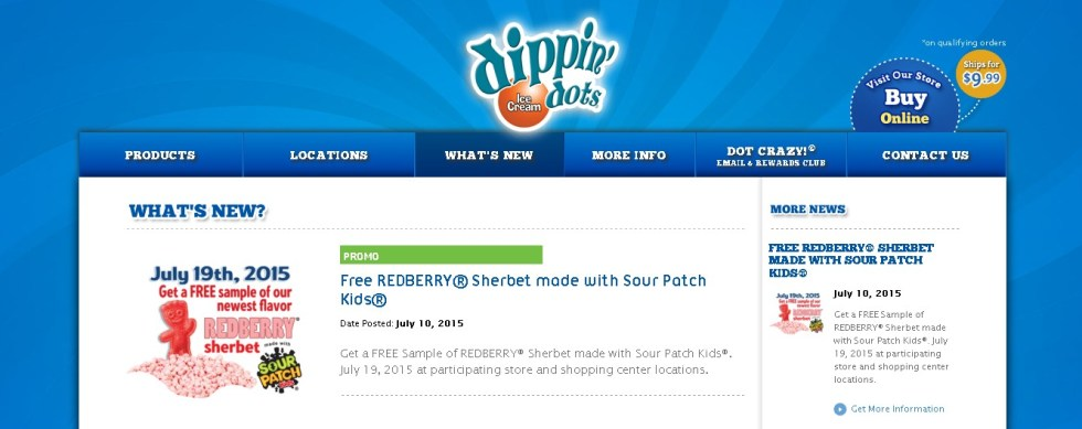 Free REDBERRY® Sherbet made with Sour Patch Kids®