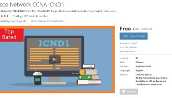 Free #Udemy Course on CCNA Security and CCNP Security 2016