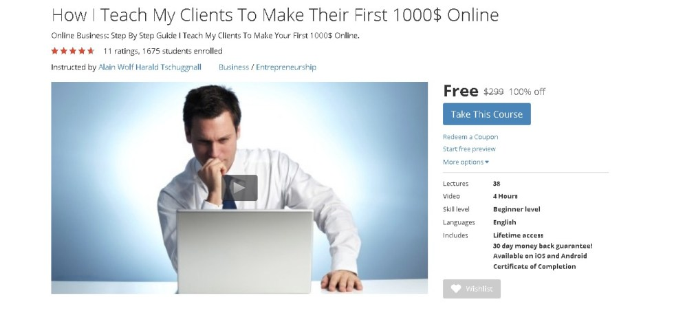 Free Udemy Course on How I Teach My Clients To Make Their First 1000$ Online (2)