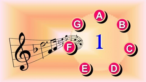 Free Udemy Course on Read Music Notes Fast L1 Beginners - Music Note Attack Pic