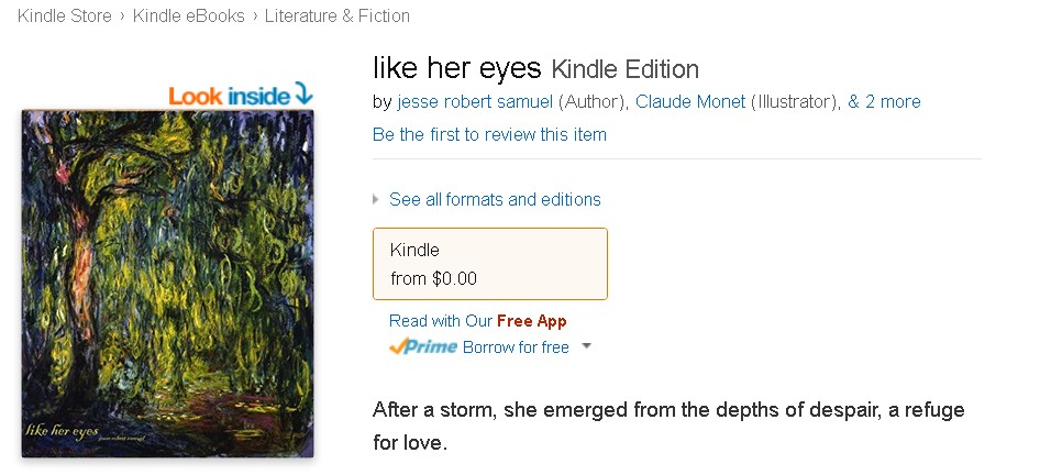 Free eBook @ Amazon- like her eyes