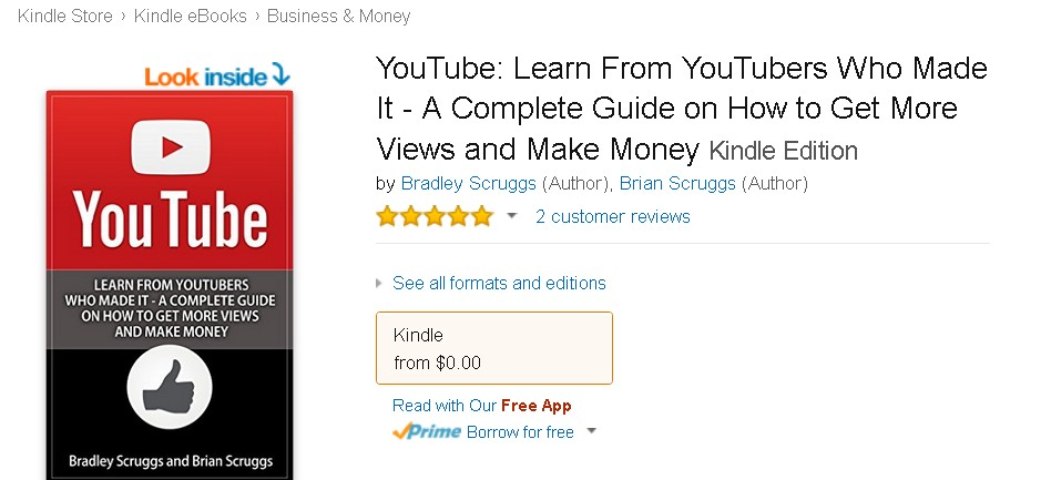 Free eBook at Amazon YouTube Learn From YouTubers Who Made It - A Complete Guide on How to Get More Views and Make Money