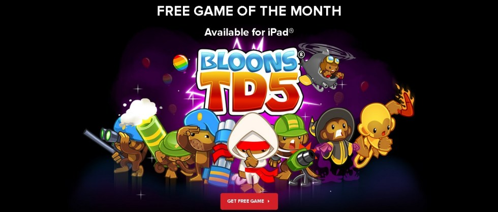 Free iPad game Bloons TD5 at IGN