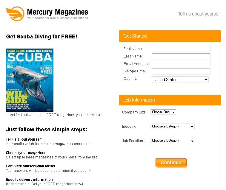 Get Scuba Diving Magazine for FREE at Mercury Magazines
