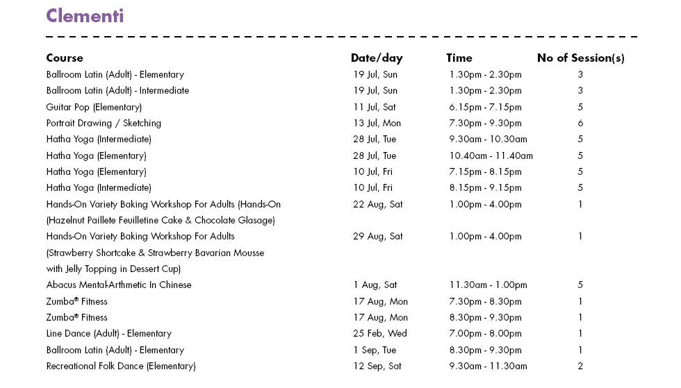 In Celebration of SG50 & PA Community Day Free Courses at Clementi CC Singapore