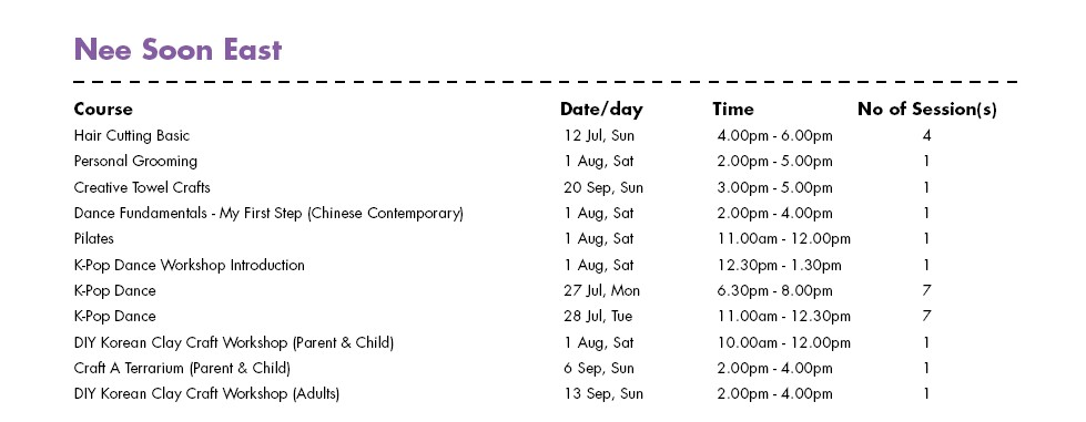 In Celebration of SG50 & PA Community Day Free Courses at Nee Soon East CC Singapore 1
