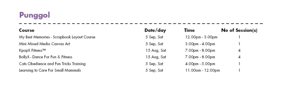 In Celebration of SG50 & PA Community Day Free Courses at Punggol CC Singapore