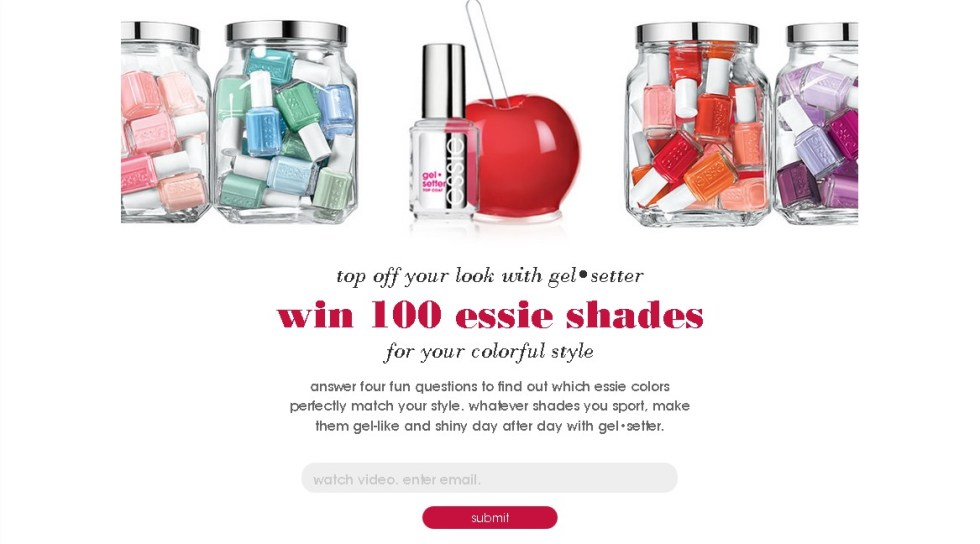 Win 100 essie shades
