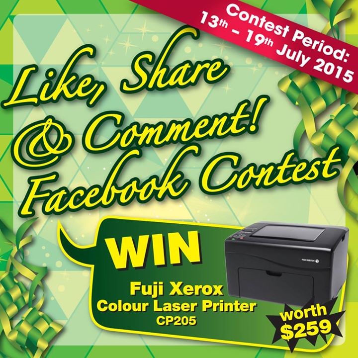 Win Fuji Xerox Colour Laser Printer at Harvey Norman Singapore