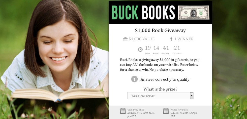 $1,000 Book Giveaway at Buck Books USA