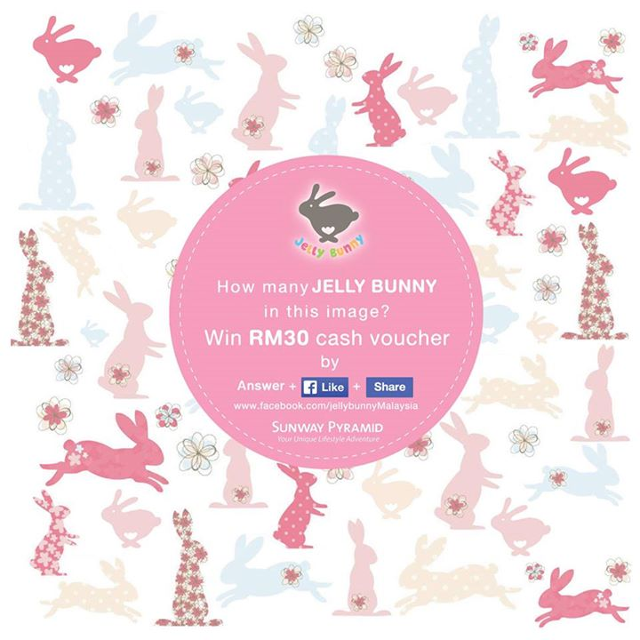 Count & win RM30 cash vouchers from Jelly Bunny at Sunway Pyramid Malaysia