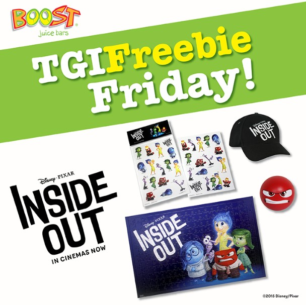 Disney•Pixar's Inside Out premiums to giveaway @ Boost Juice Bars Malaysia