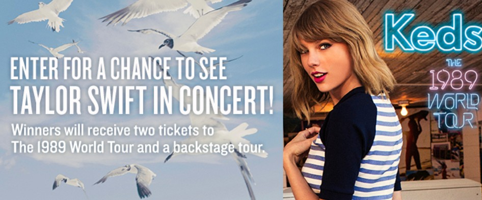 Enter for a chance to see Taylor Swift in Concert- KEDS The 1989 World Tour