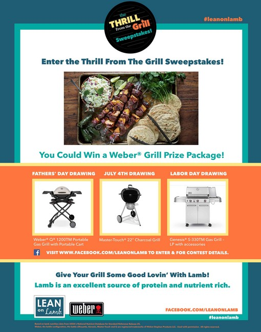 Enter the Thrill from The Grill Sweeptakes
