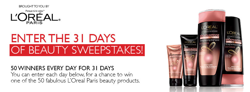 Enter to 31 Days of Beauty Sweepstakes Presented by L'OREAL PARIS!