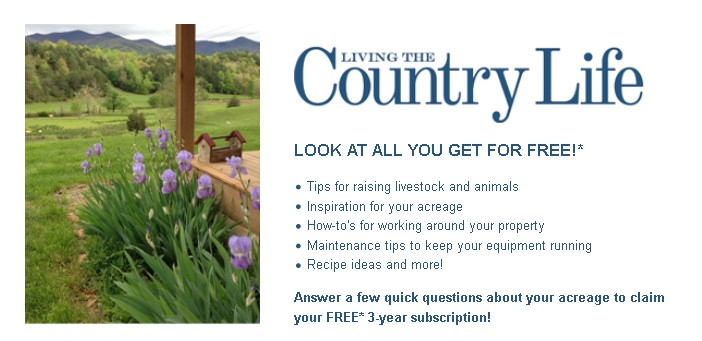 FREE 3-year subscription of Living in the Country Life Magazine 1