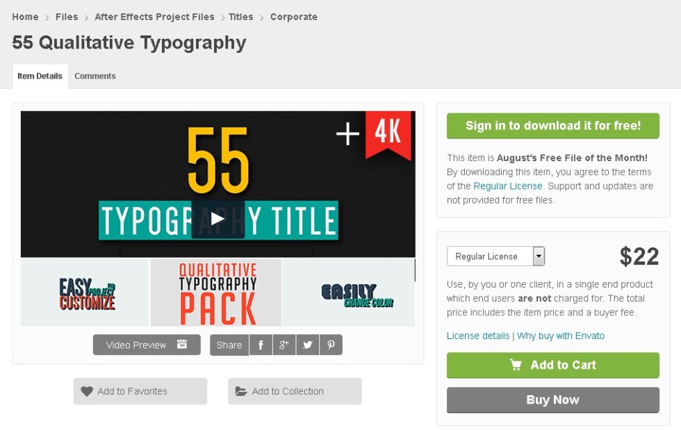 FREE 55 Qualitative Typography at Video Hive