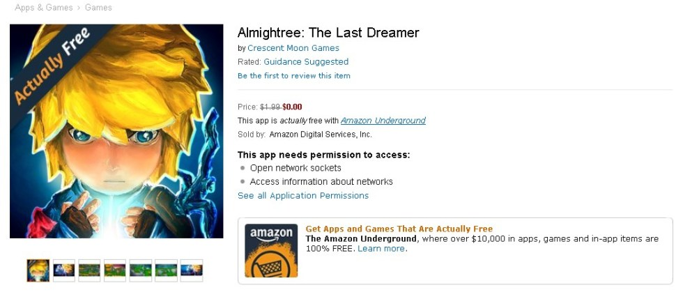 FREE Almightree The Last Dreamer at Amazon
