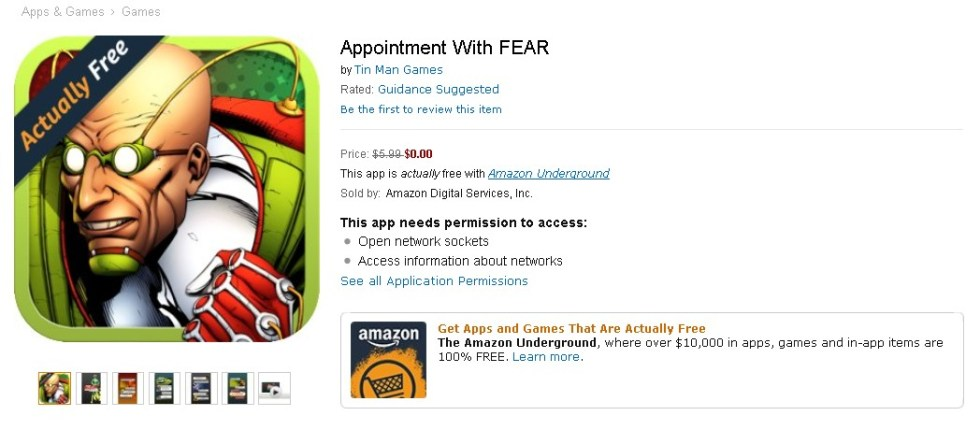 FREE Appointment With FEAR at Amazon