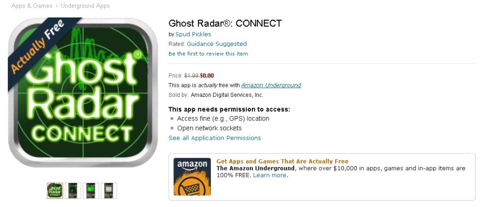 FREE Ghost Radar® CONNECT at Amazon 1