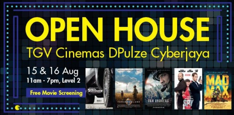 FREE Movie Screening at TGV Cinemas Dpulze Cyberjaya Open House1