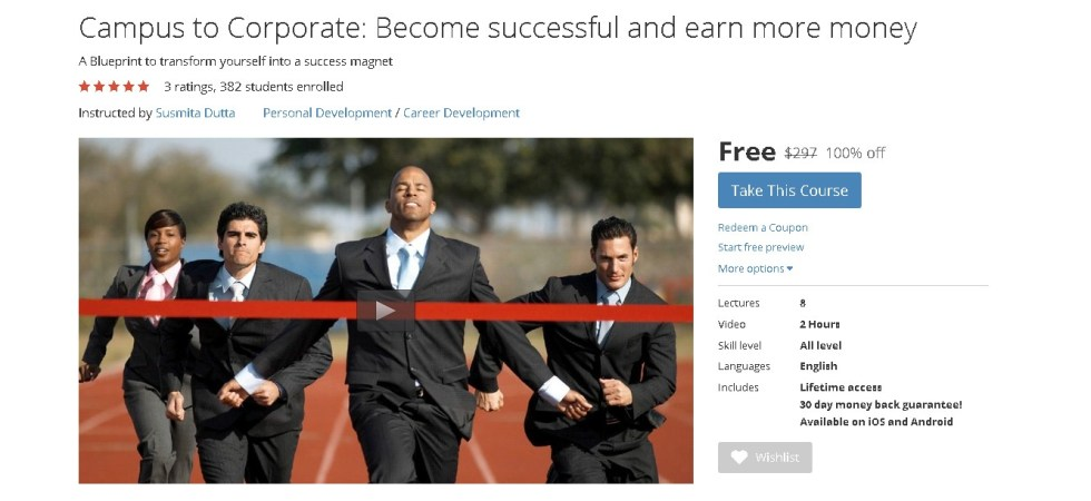 FREE Udemy Course on Campus to Corporate Become successful and earn more money (2)