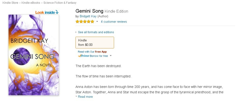 Free Amazon eBook  Gemini Song Form