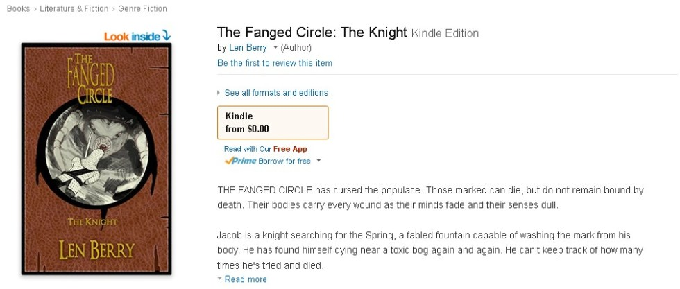 Free Amazon eBook- The Fanged Circle The Knight