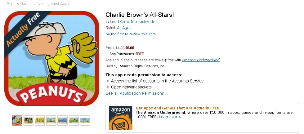 Free Charlie Brown's All-Stars! at Amazon