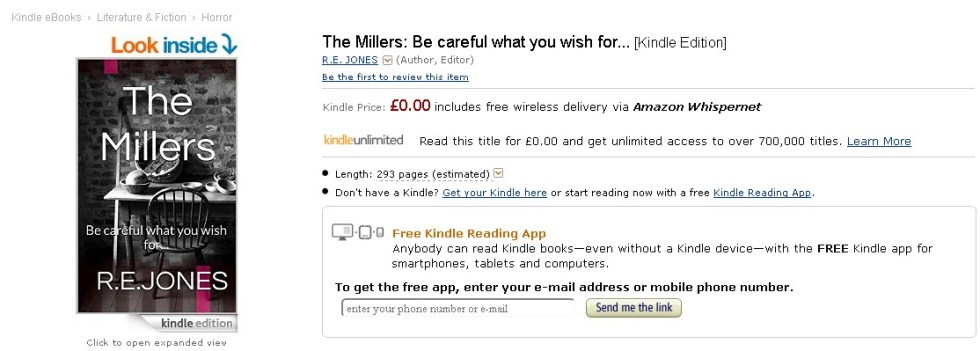 Free Ebook at Amazon- The Millers Be careful what you wish for... 1