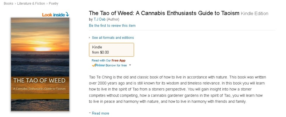 Free Ebook at Amazon The Tao of Weed A Cannabis Enthusiasts Guide to Taoism  1