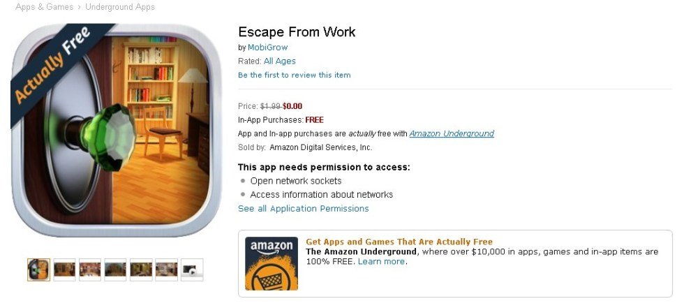 Free Escape From Work at Amazon 1